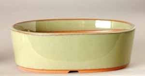 """4.5"""" G. Oval  Houtoku Pot # 1250B"""