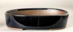 """6.5"""" G. Oval Houtoku Pot # 1264A"""