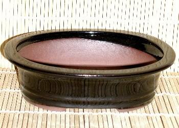 black oval pot 8x6x2