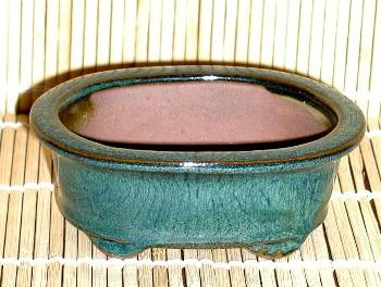 oval mame green pot 4x3x1