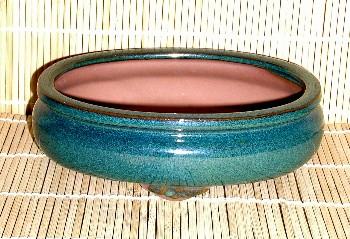 Green Oval Pot