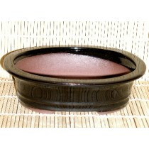 black oval pot 8x6x2