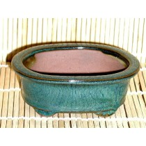 oval mame green pot 4x3x1